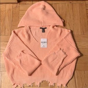 Forever21 Peach Distressed Sweater Top BN - Size S